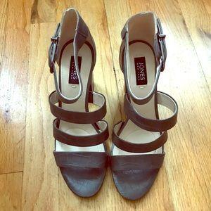 Jones Ankle Strap Block Heel Sandals